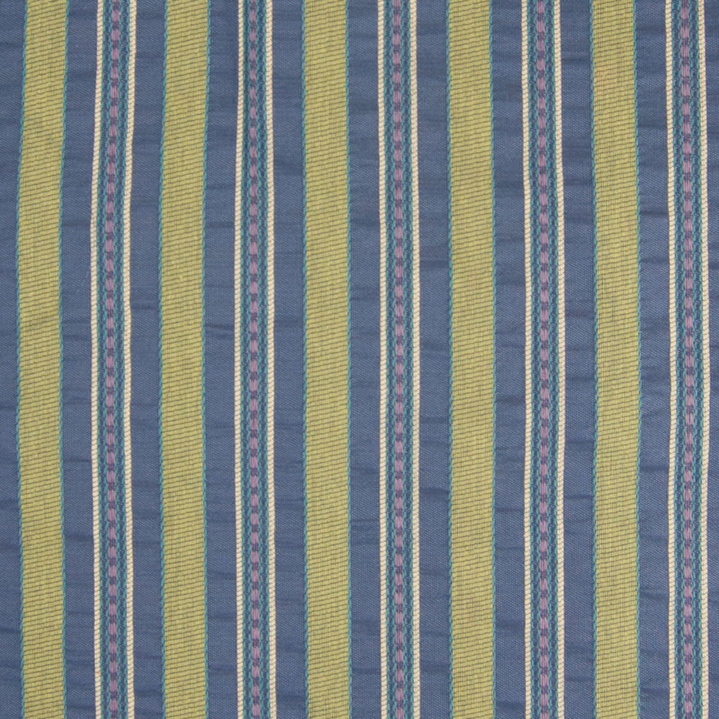 Multi Green Blue Stripe Woven Upholstery Fabric