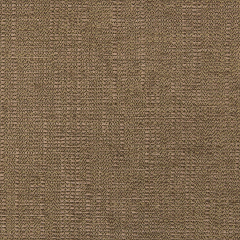 Moss Brown Solid Woven Chenille Texture Upholstery Fabric