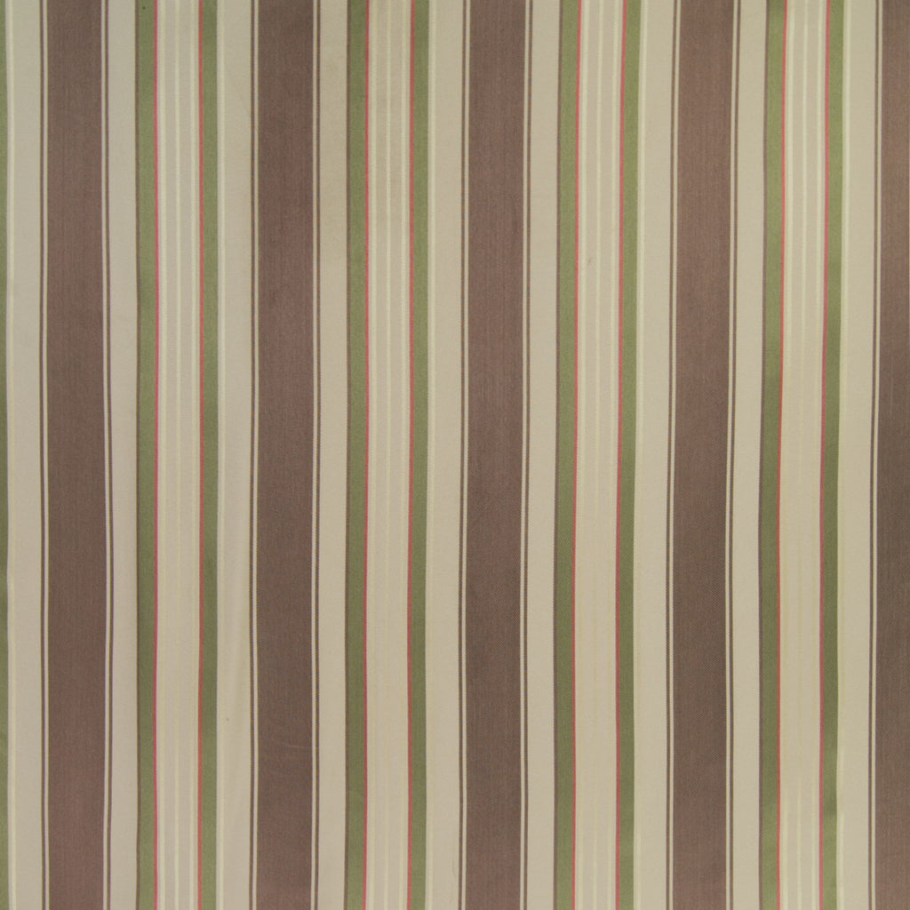 Rattan Brown Neutral Stripe Metallic Woven Upholstery Fabric
