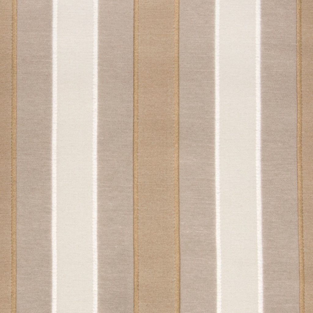 Taupe Neutral Stripe Woven Upholstery Fabric