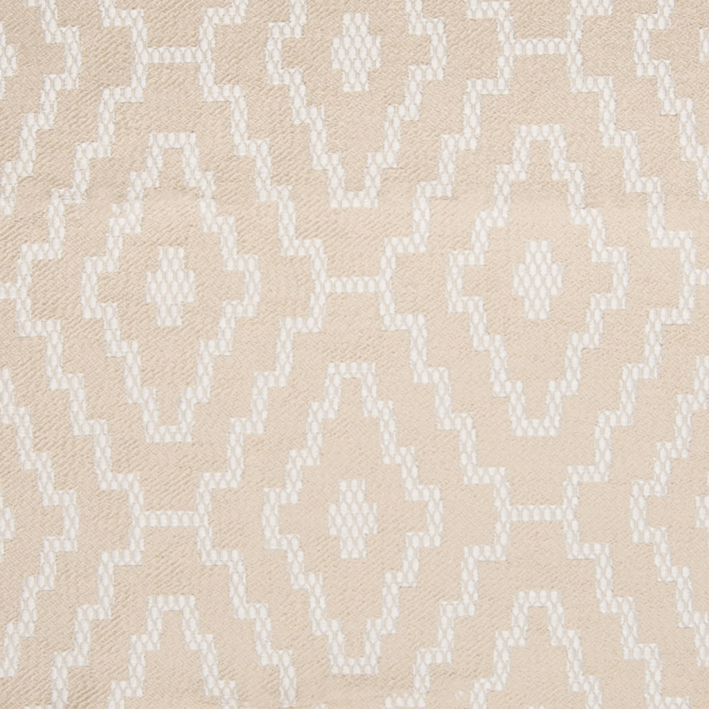 Natural Neutral Geometric Medallion Diamond Woven Cotton Upholstery Fabric