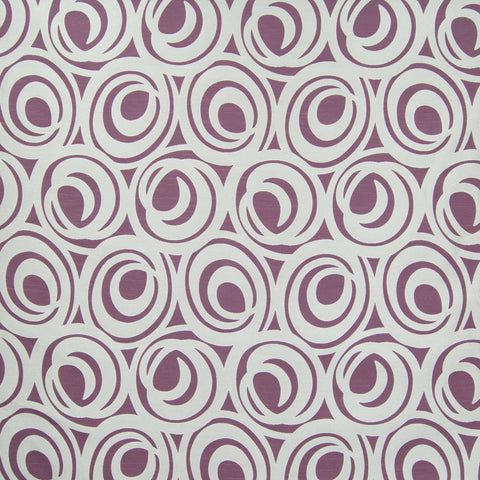 Plum Purple Contemporary Geometric Woven Cotton Jacquard Upholstery Fabric