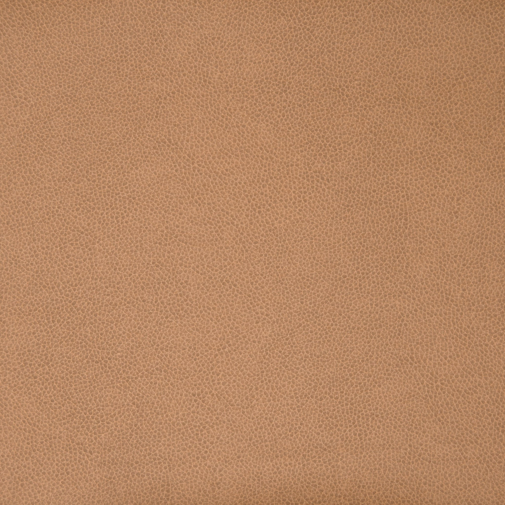 Tobacco Beige Leather Grain Plain Solid Vinyl Upholstery Fabric