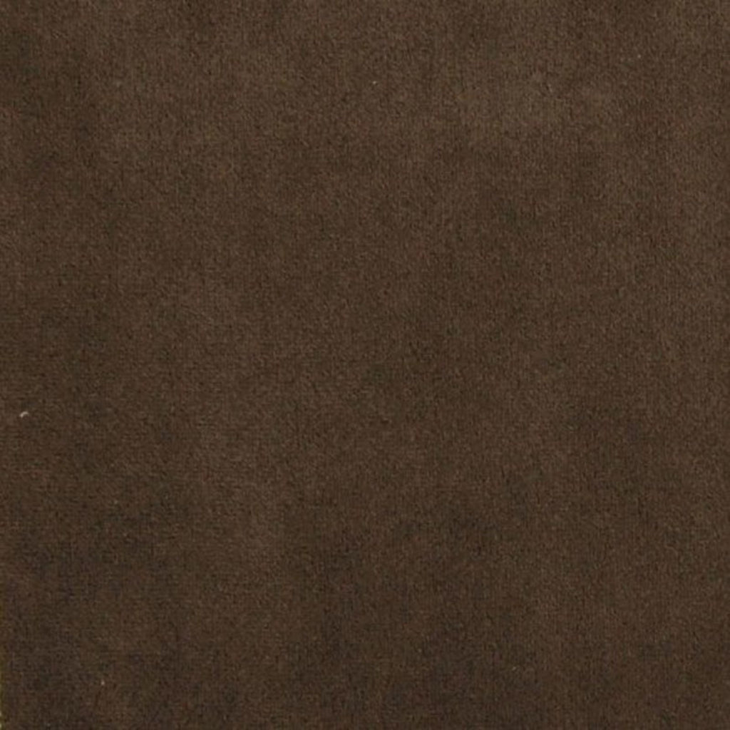 Mocha Brown Solid Velvet Upholstery Fabric