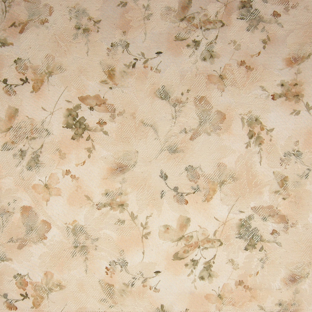 Sage Neutral Floral Made in USA Print Upholstery Fabric