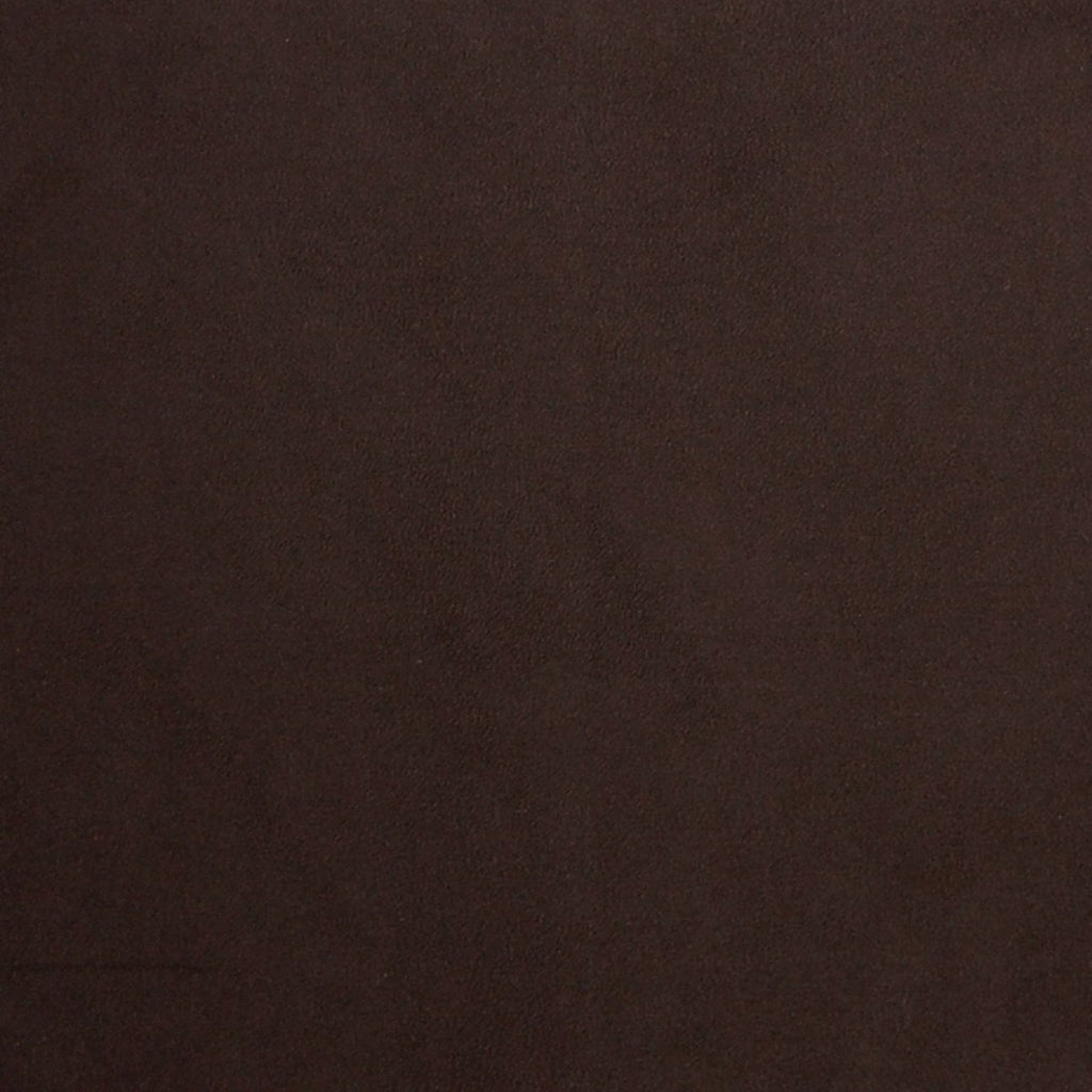 Cocoa Brown Solid Velvet Suede Upholstery Fabric