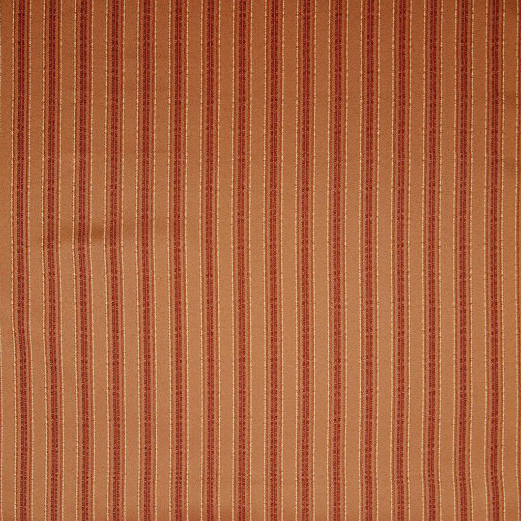 Terracotta Orange Stripe Woven Jacquard Upholstery Fabric