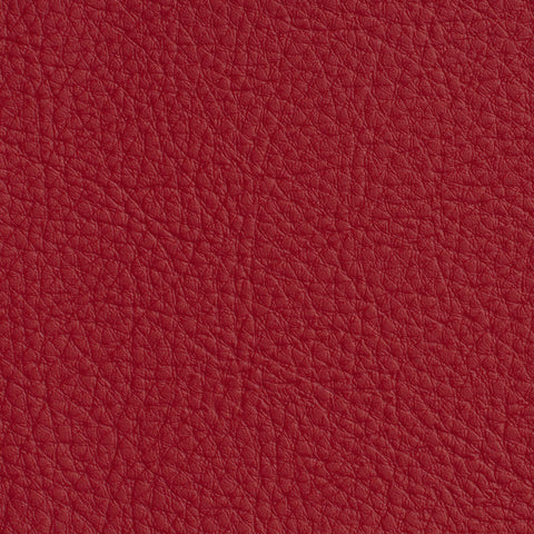 Natural Dark Red Red Leather Grain Plain Solid Vinyl Upholstery Fabric
