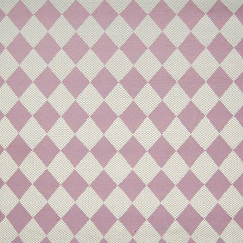 Grape Purple White Contemporary Diamond Woven Upholstery Fabric