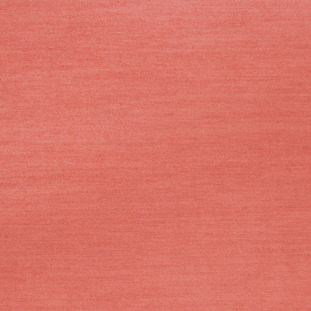 Coral Red Pink Solid Velvet Upholstery Fabric