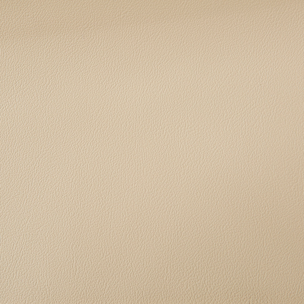 Sheffield Dune Beige Leather Grain Plain Solid Vinyl Upholstery Fabric