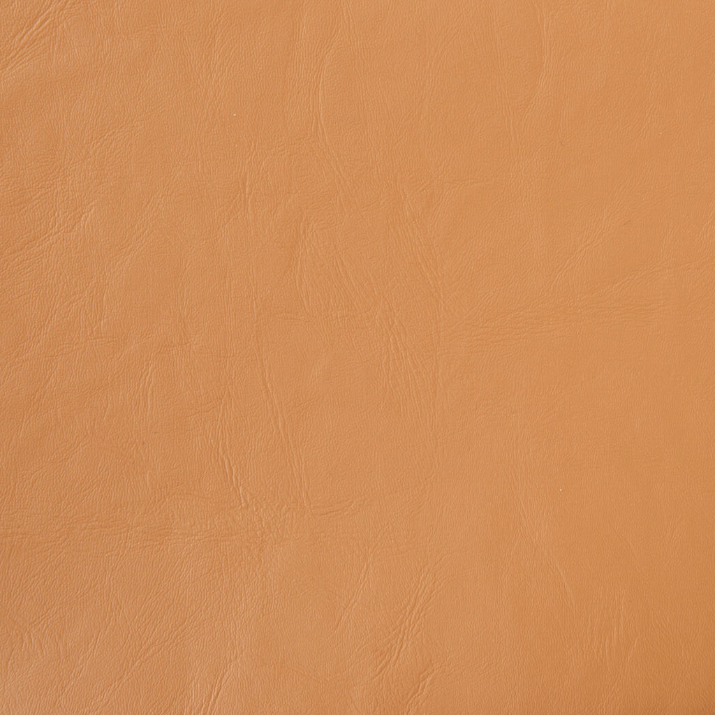 Doeskin Ginger Brown Leather Grain Plain Solid Vinyl Upholstery Fabric