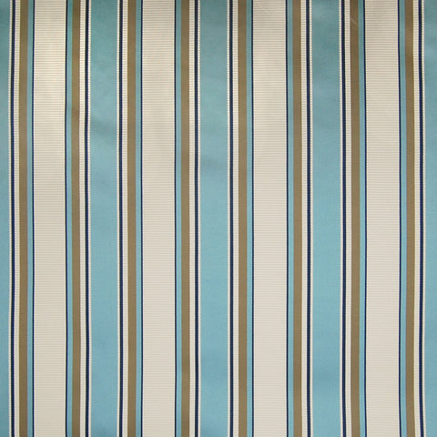 Lagoon Blue Teal Stripe Cotton Woven Upholstery Fabric
