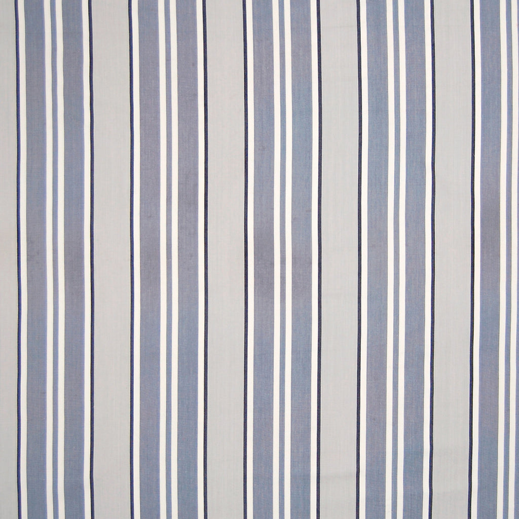 Eclipse Gray Stripe Cotton Woven Upholstery Fabric