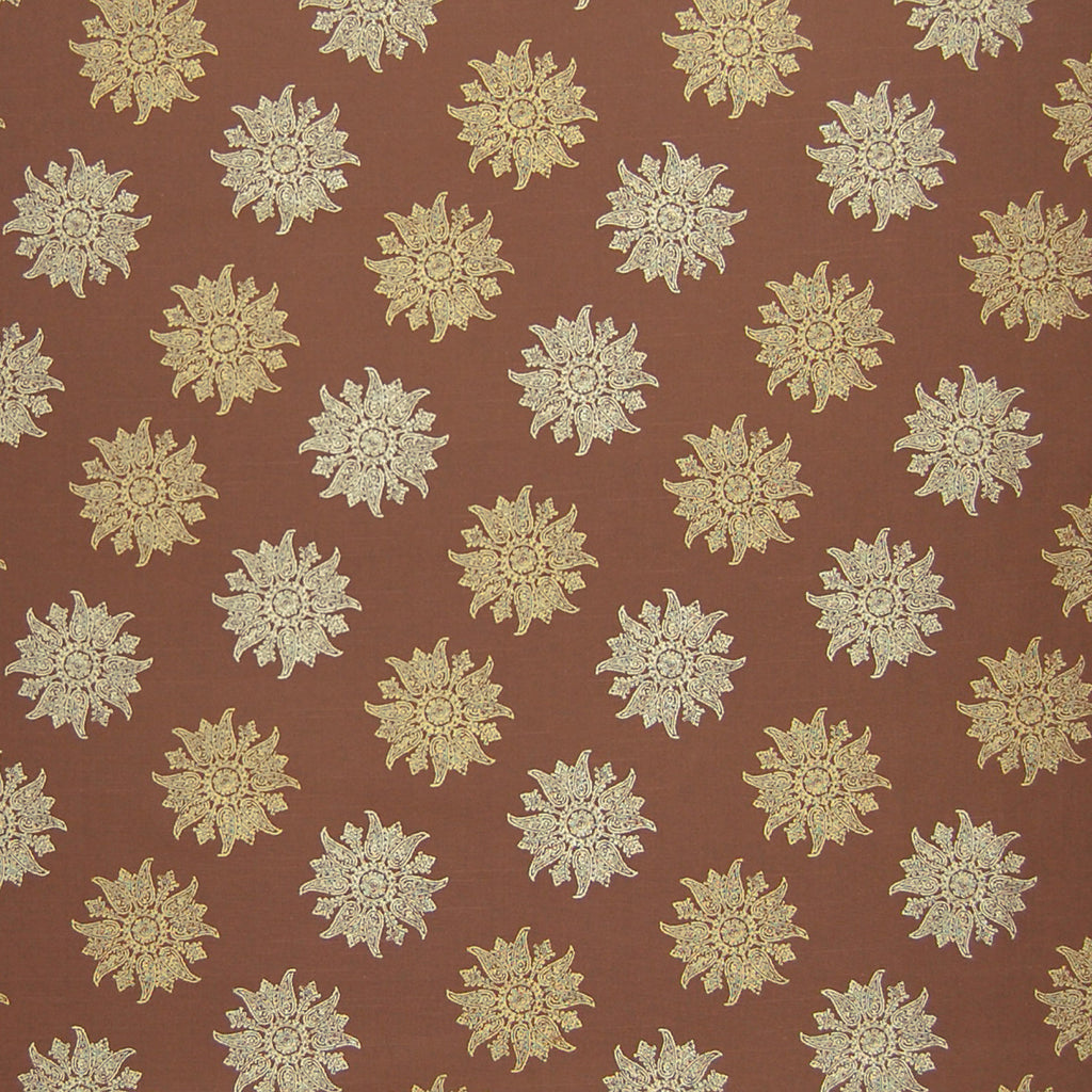 Espresso Brown Contemporary Made In Usa Print Cotton Upholstery