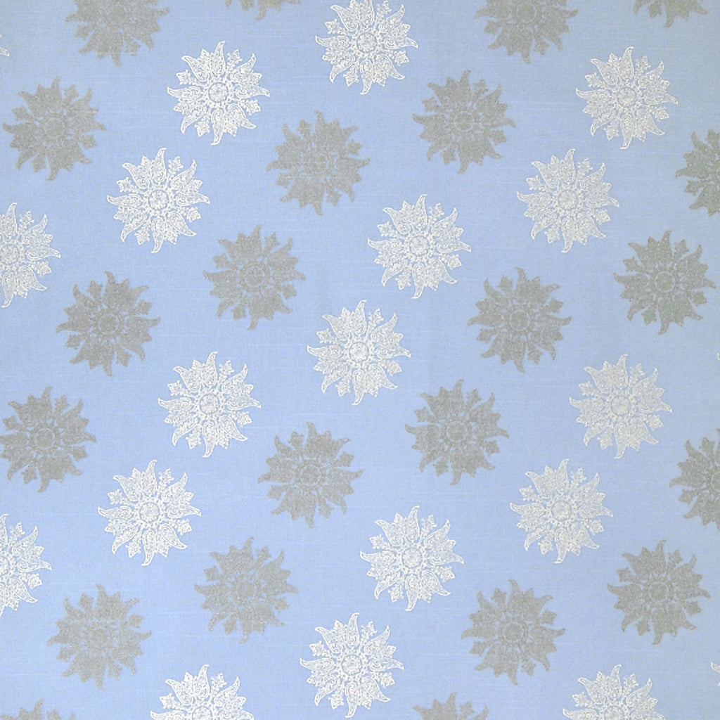 Carribbean Blue Contemporary Made in USA Print Cotton Upholstery Fabric