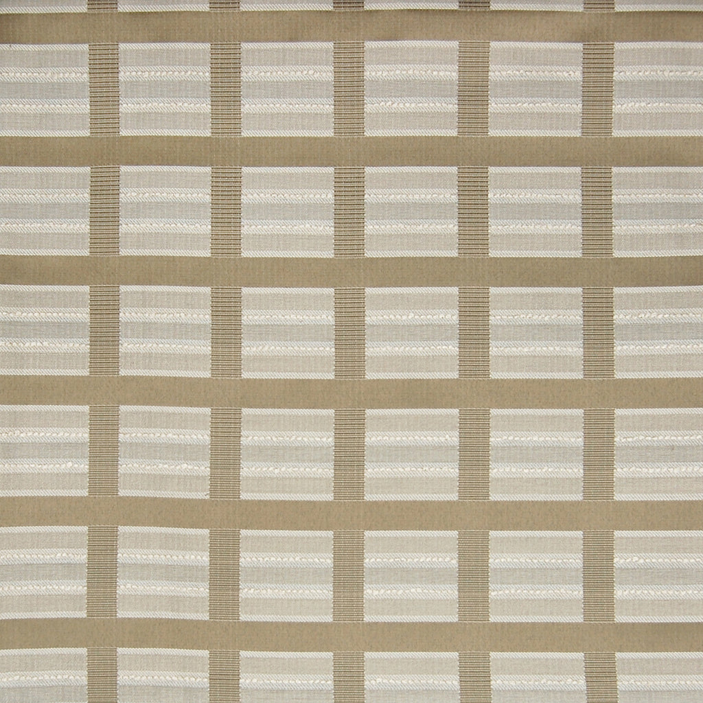 Ore Neutral Plaid Made in USA Woven Upholstery Fabric
