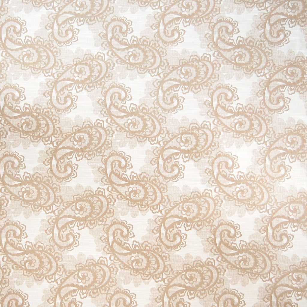 Wheat Neutral Paisley Jacquard Made in USA Upholstery Fabric