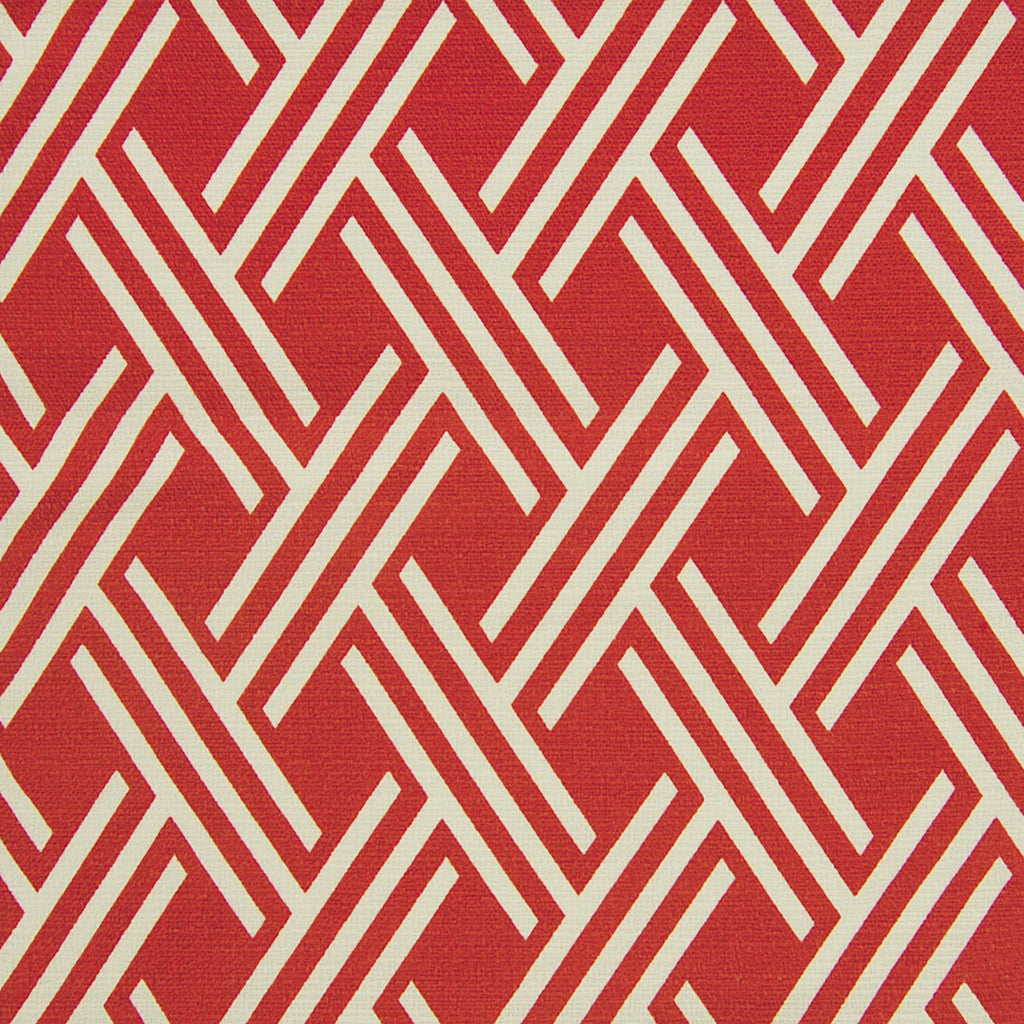 Rust Red Geometric Contemporary Cotton Upholstery Fabric