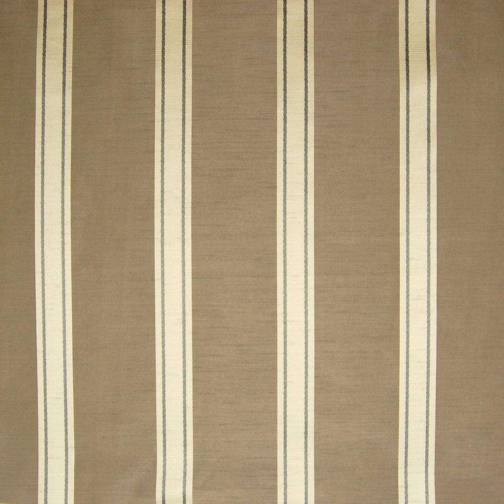 Mink Brown Stripe Faux Silk Upholstery Fabric