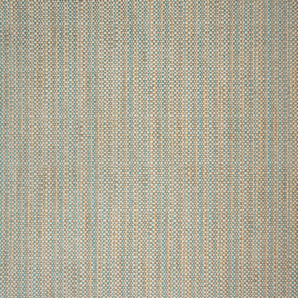 Serenity Blue Brown Stripe Texture Woven Upholstery Fabric