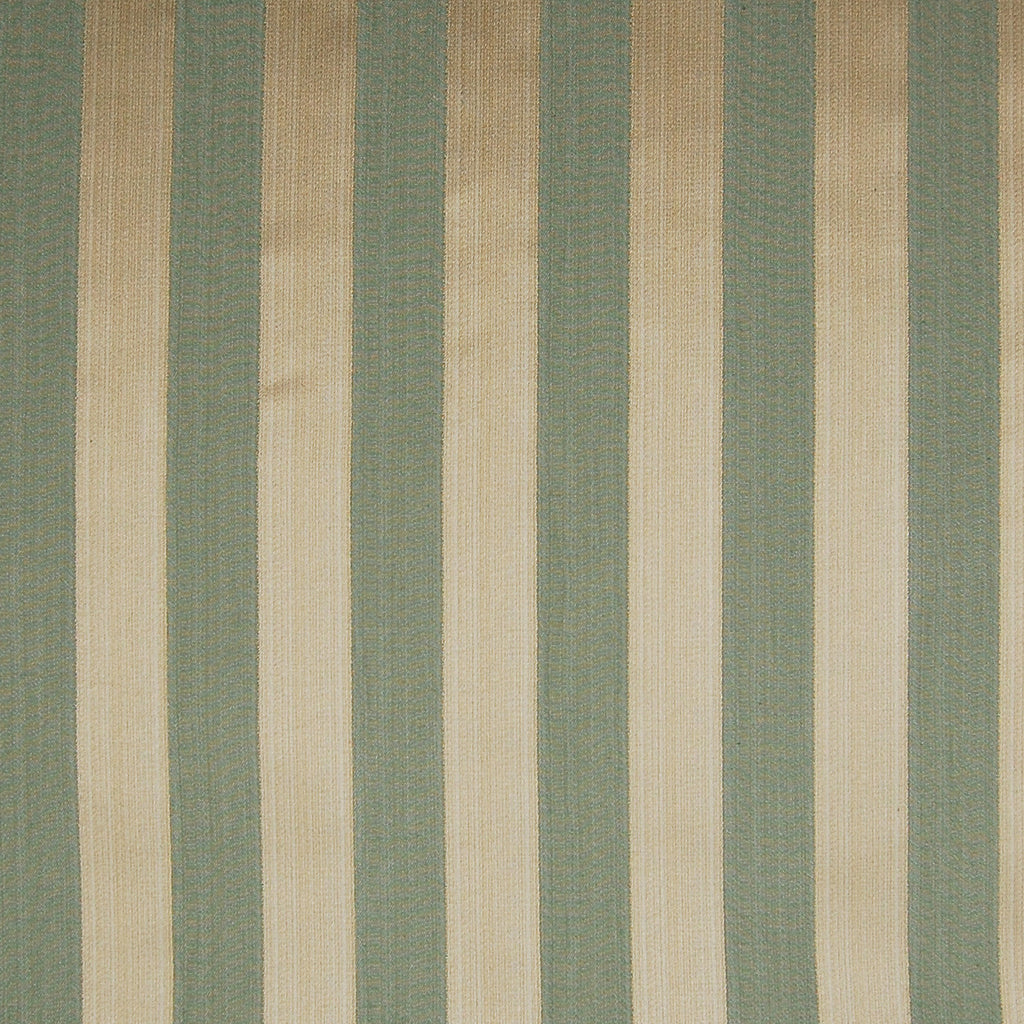 Sage Green Stripe Metallic Cotton Upholstery Fabric