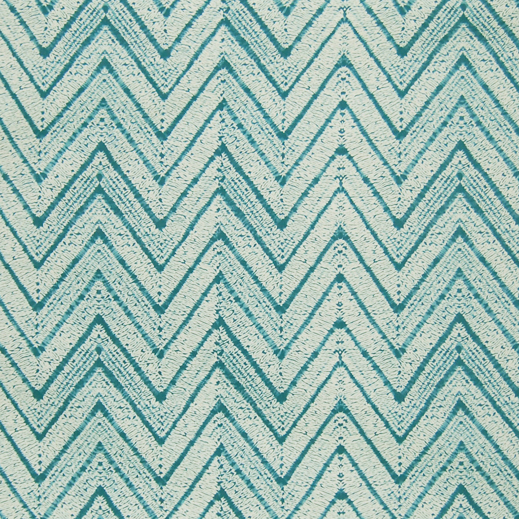 Seaspray Blue Teal Chevron Contemporary Geometric Cotton Upholstery Fabric