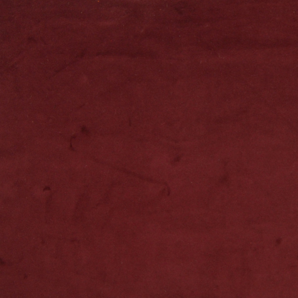 Merlot Red Solid Velvet Upholstery Fabric