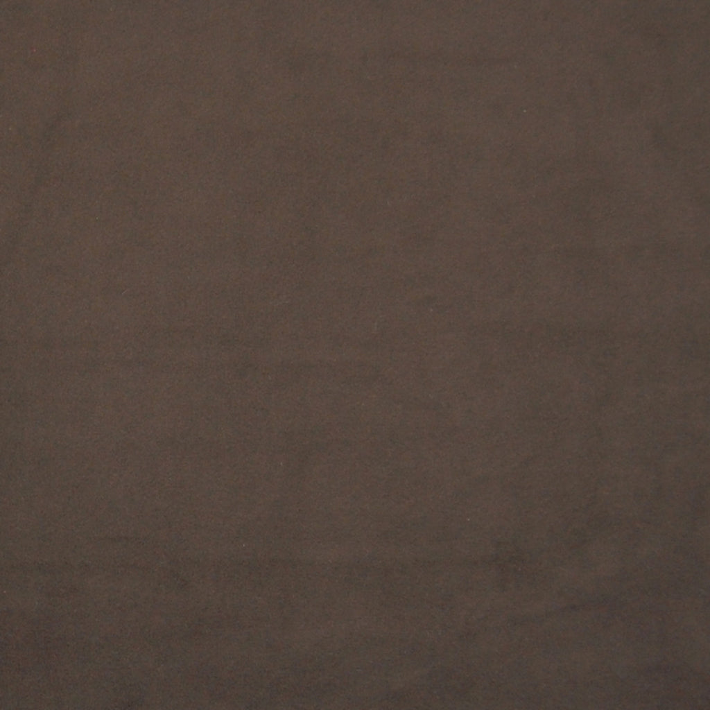 Chocolate Brown Solid Velvet Upholstery Fabric