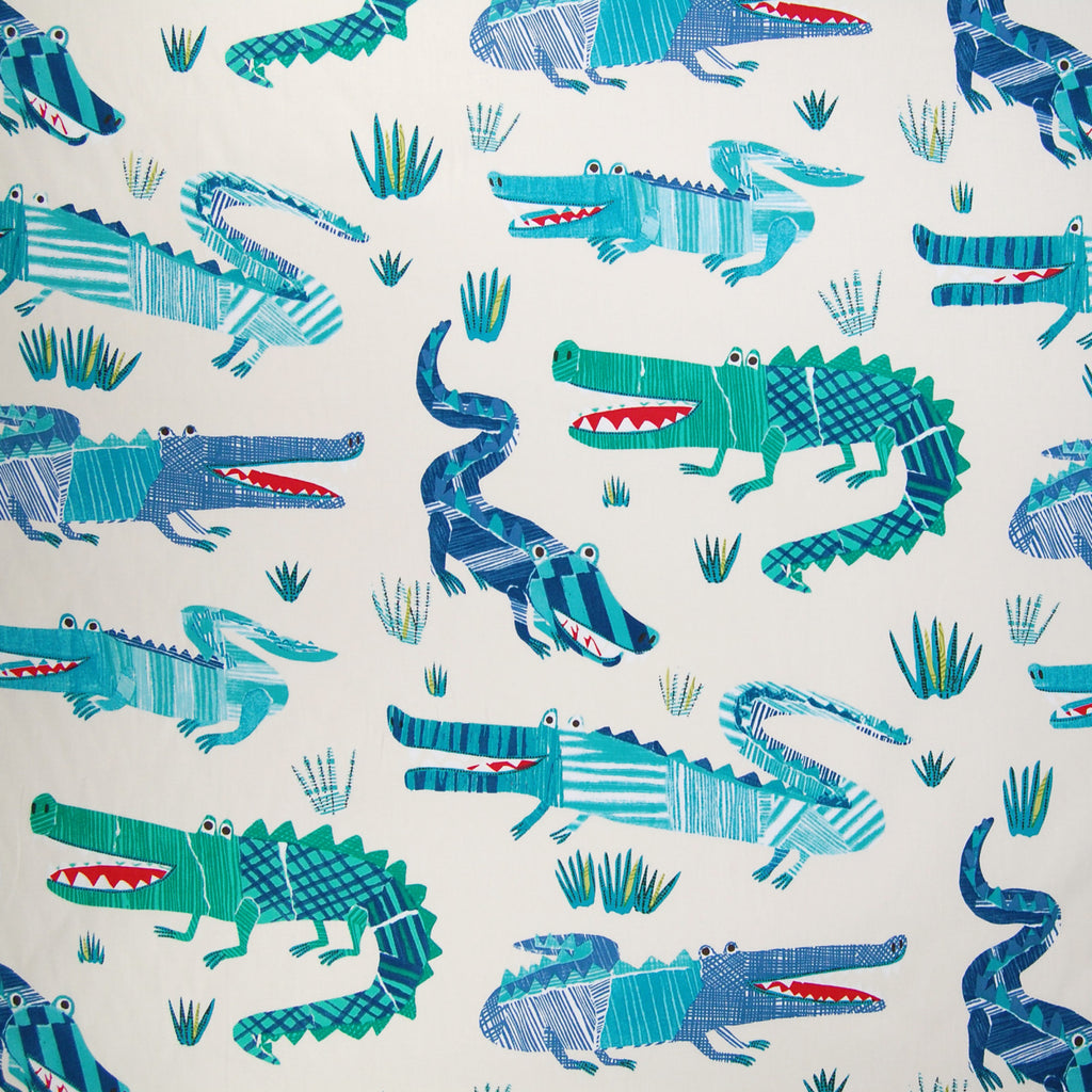Marine Blue Animal Novelty Juvenile Cotton Print Upholstery Fabric