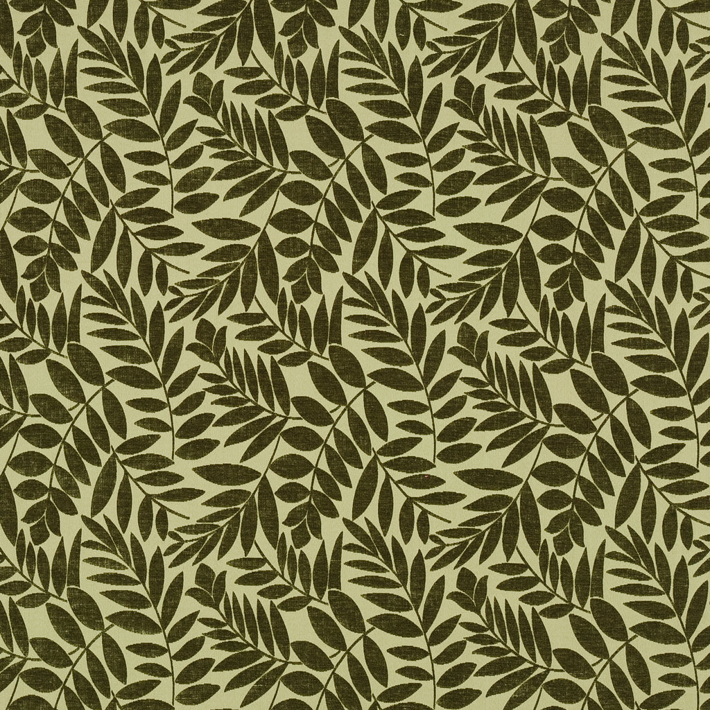 Arbor Crabapple Green Green Teal Green Hunter forest Leaves Fl Upholstery Fabric