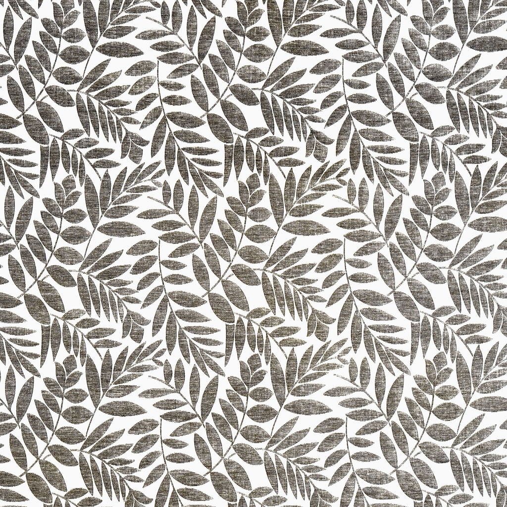 Arbor Willow Gray Gray White Silver Gray Charcoal Leaves Flora Upholstery Fabric