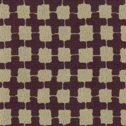 Argyle Aubergine Purple Gray Gray Charcoal Geometric Woven Tex Upholstery Fabric