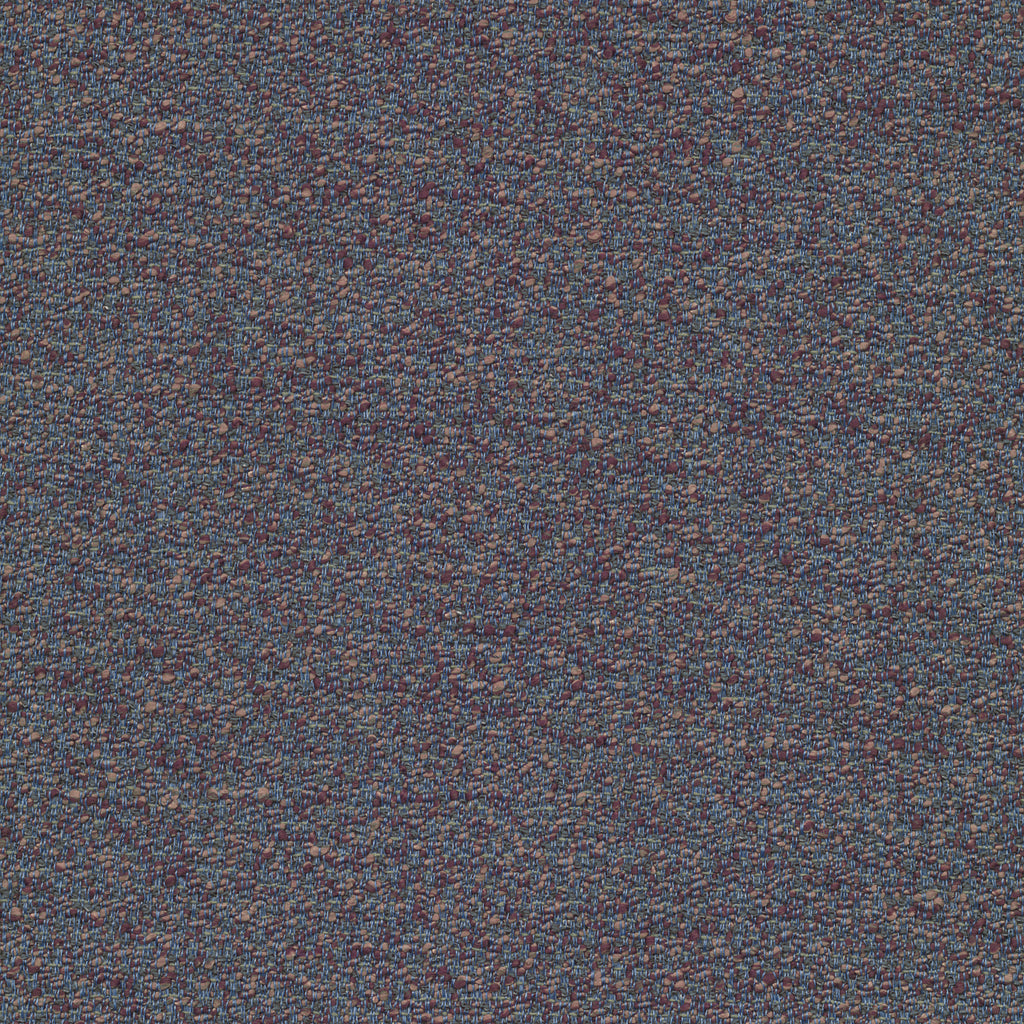 Avenue Bleu Blue Brown True Blue Solid Woven Textured Upholstery Fabric