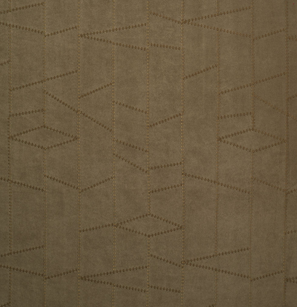 Dark Green Abstract Geometric Microfiber Microsuede Upholstery Fabric