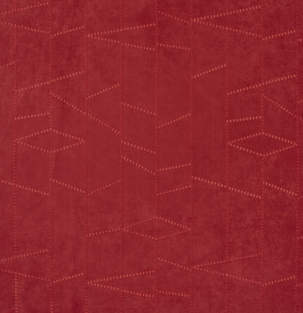 Burgundy Red Rust Abstract Geometric Microfiber Microsuede