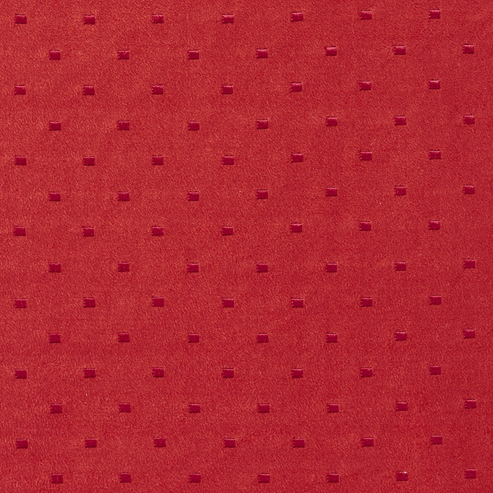 Burgundy Red Rust Abstract Geometric Small Scale Microfiber M Upholstery Fabric