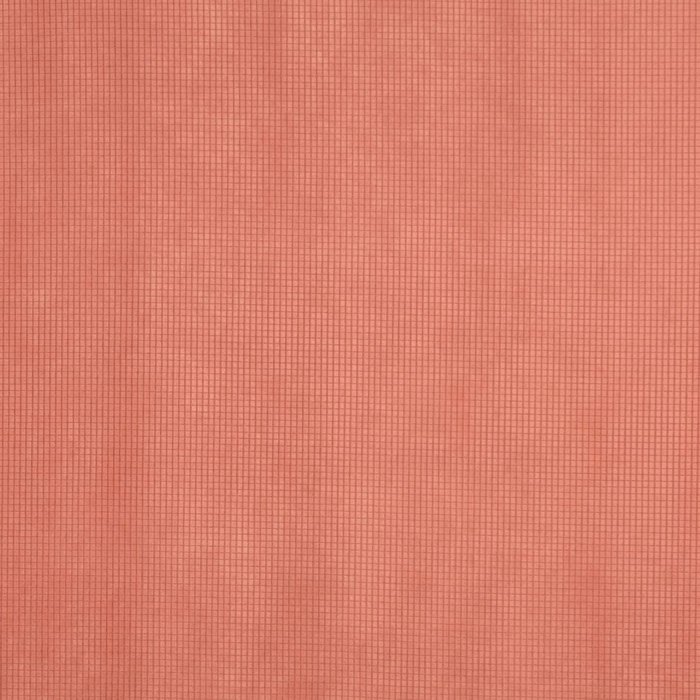 Coral Orange Persimmon Plain Solid Small Scale Microfiber Mic Upholstery Fabric