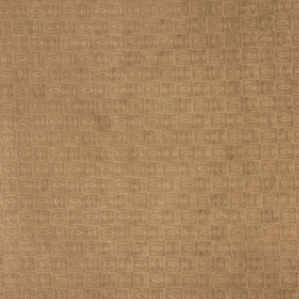 Beige Tan Taupe Abstract Geometric Small Scale Microfiber Mic Upholstery Fabric