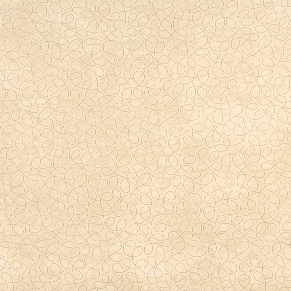 Beige Tan Taupe White Abstract Geometric Small Scale Microfib Upholstery Fabric