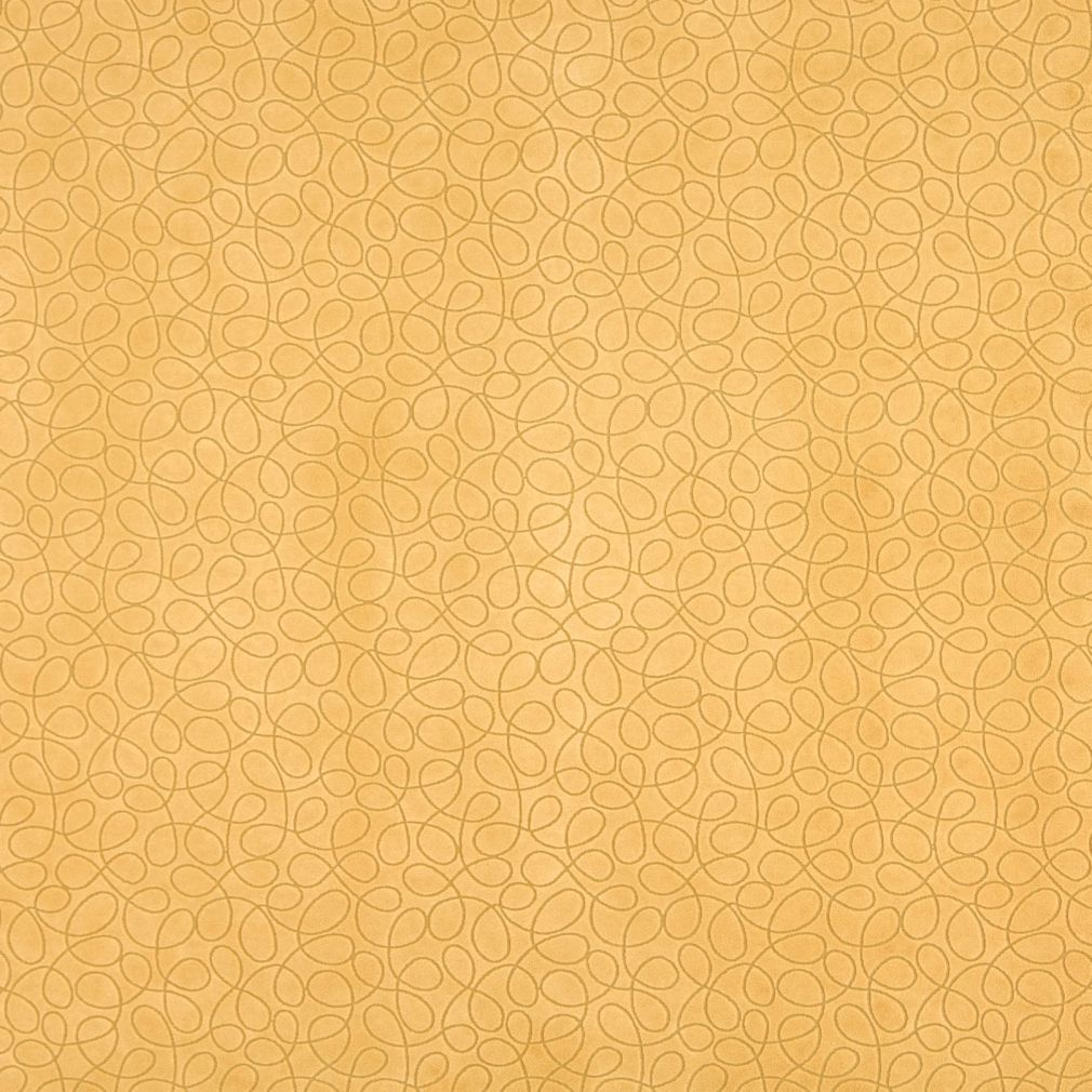 Gold Yellow Abstract Geometric Small Scale Microfiber Microsu Upholstery Fabric