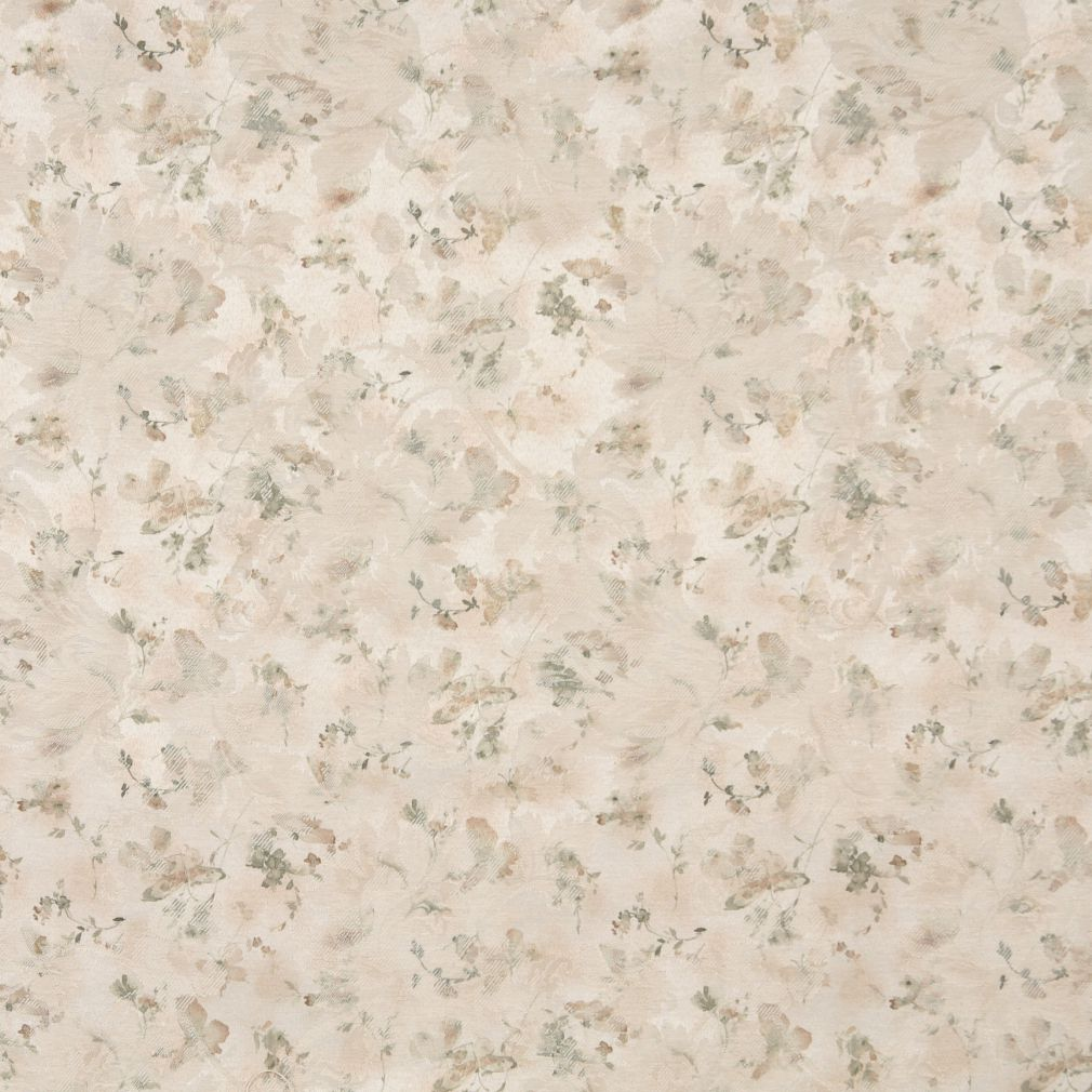 Beige Tan Taupe Gold Yellow Light Geen White Floral Damask Ja Upholstery Fabric