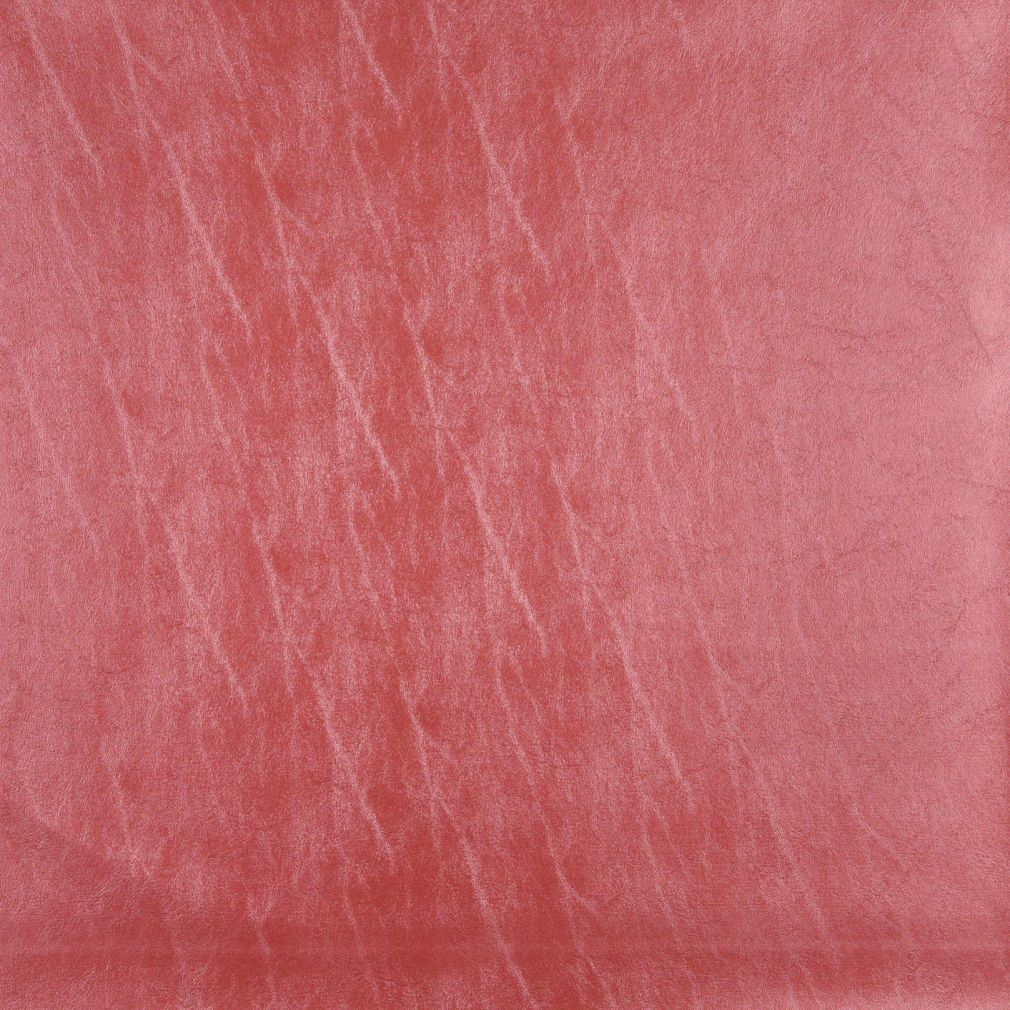 Coral Orange Persimmon Leather Grain Metallic Plain Solid Vin Upholstery Fabric