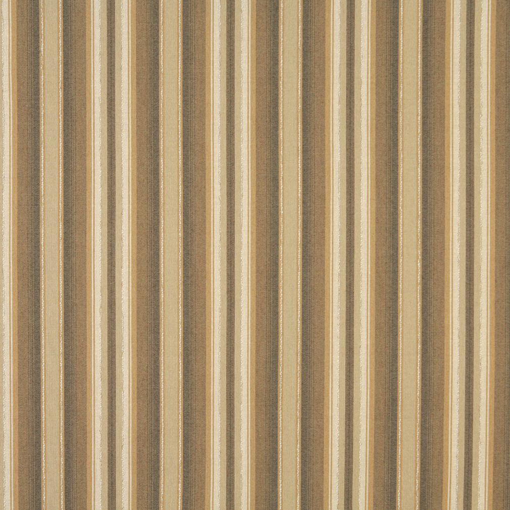 Beige Tan Taupe Brown Gold Yellow Stripe Linen Silk Looks Twe Upholstery Fabric