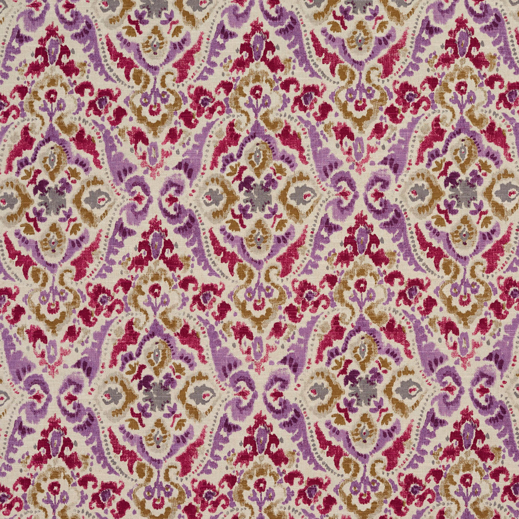Lilac Purple Pink Rose Contemporary Abstract Geometric Juveni Upholstery Fabric