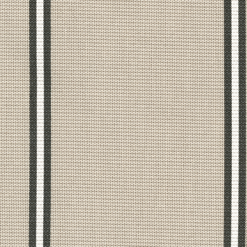 Banda Marrone Brown Tan Beige Stripe Woven Flat Upholstery Fabric