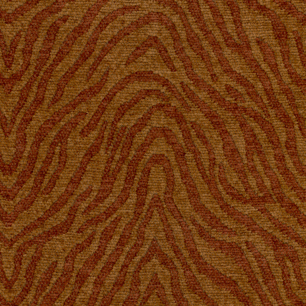 Beale Street Trophy Orange Orange Rust Curvilinear Woven Cheni Upholstery Fabric