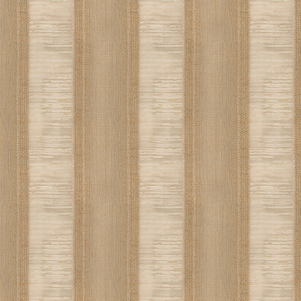 Bold Stripe Khaki Brown Stripe Woven Flat Upholstery Fabric