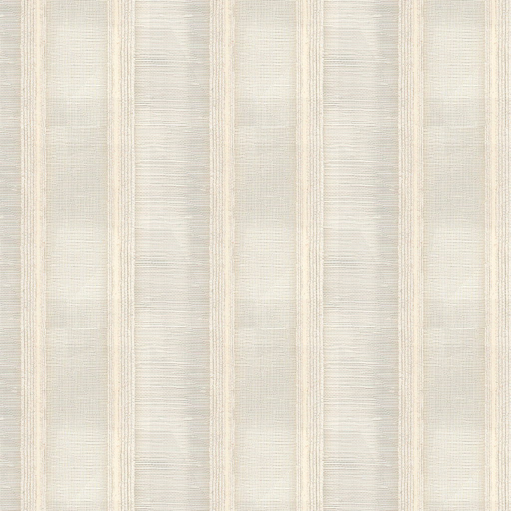 Bold Stripe Seashell Gray White Silver Stripe Woven Flat Upholstery Fabric