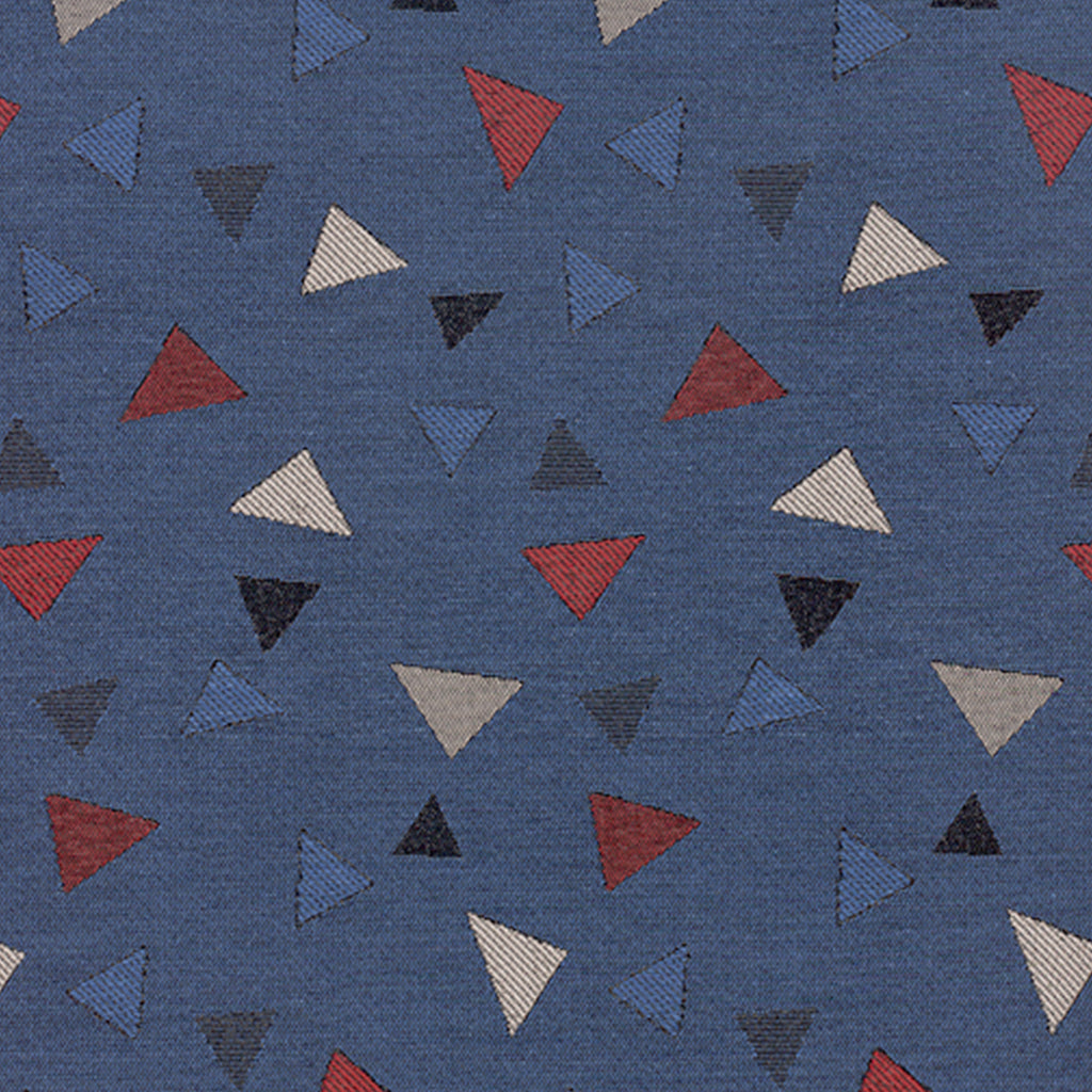 Broken Arrow Night Sky Blue Red True Blue Burgundy Geometric W Upholstery Fabric